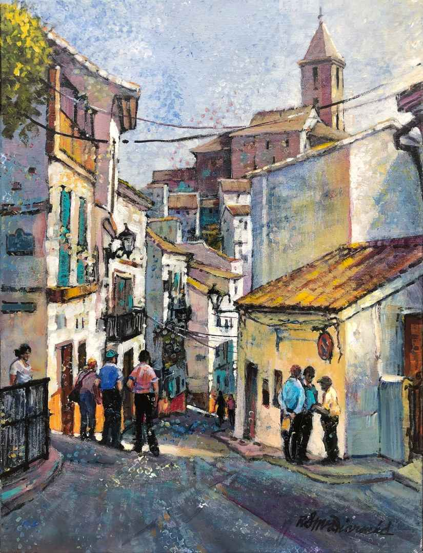 Spanish Village-Andal... by  Rick McDiarmid - Masterpiece Online