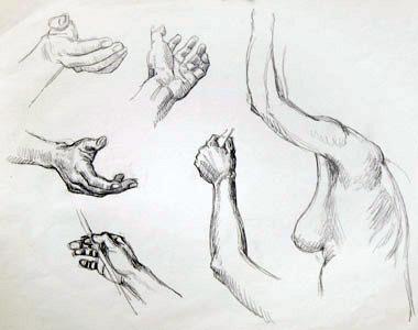 Five Hands With Torso