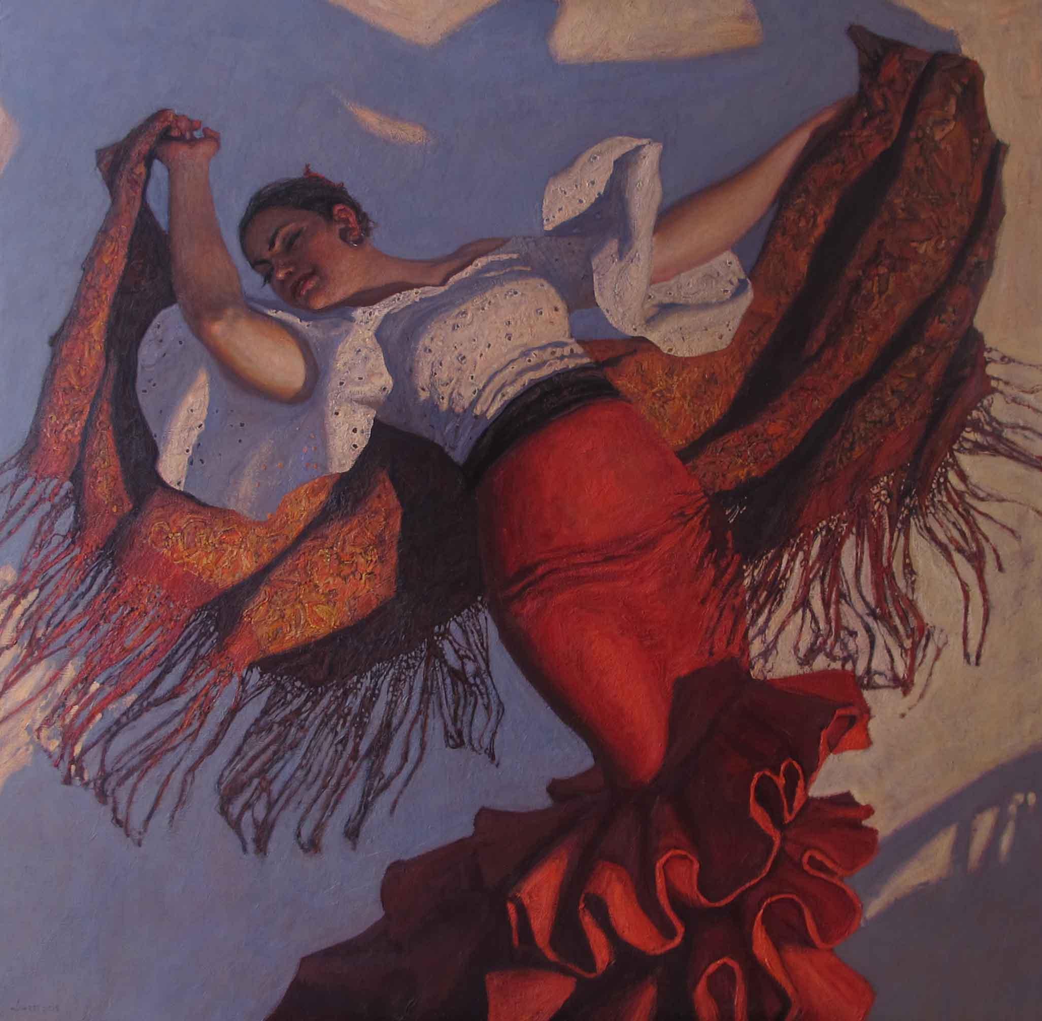 Red Shawl (Manton Roj... by  Daud Akhriev - Masterpiece Online