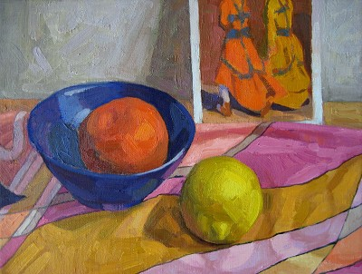 Moroccan Yellow and O... by  Melissa Hefferlin - Masterpiece Online