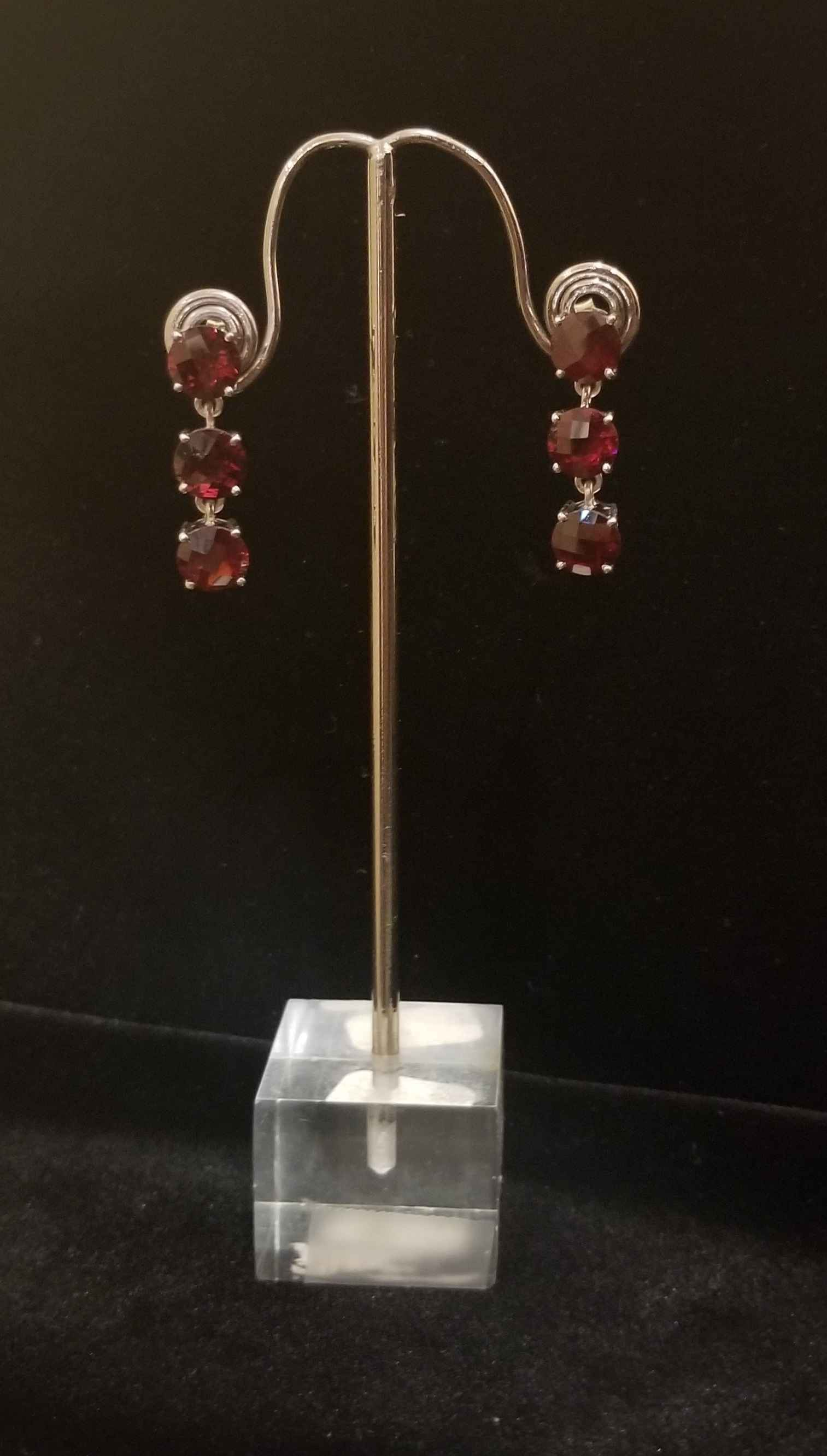 Earrings - Garnet Drop by  Gallery Pieces - Masterpiece Online