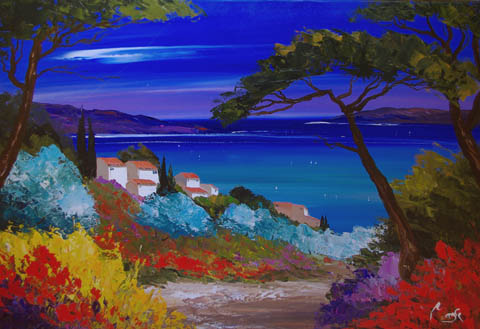 Azure Bay by  Louis  Magre - Masterpiece Online