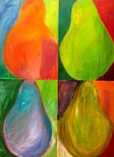 Color Theory Pears  by  Tracy Kay Felix