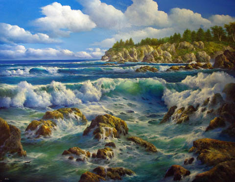 Pine Coast by   Dy'Ans  - Masterpiece Online