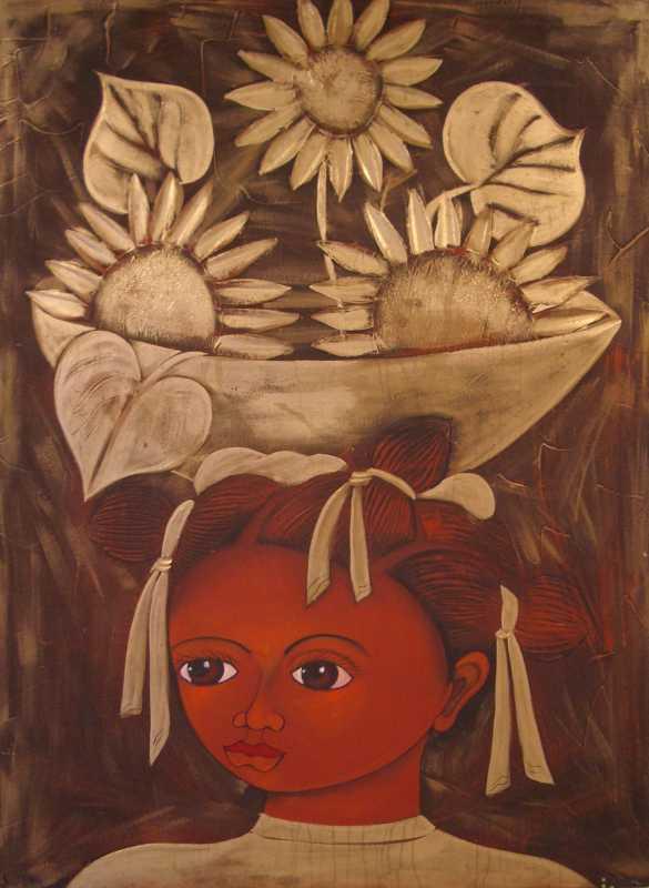 Golden Girl with Flow... by  Rey Paulino - Masterpiece Online