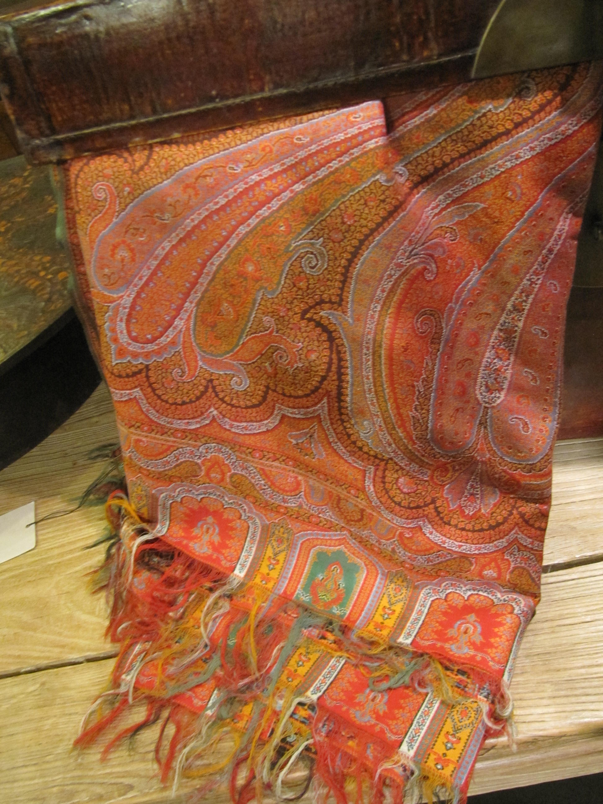 WOOL PAISLEY SHAWL by    - Masterpiece Online