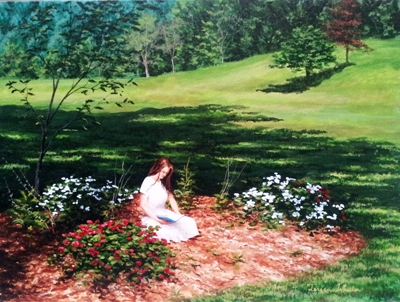 Among the Impatiens by   Teresa  Wheeler - Masterpiece Online