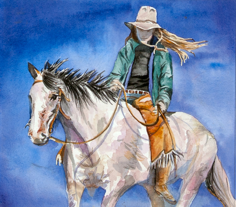 Cowgirl by MS Nancy Dunlop Cawdrey - Masterpiece Online