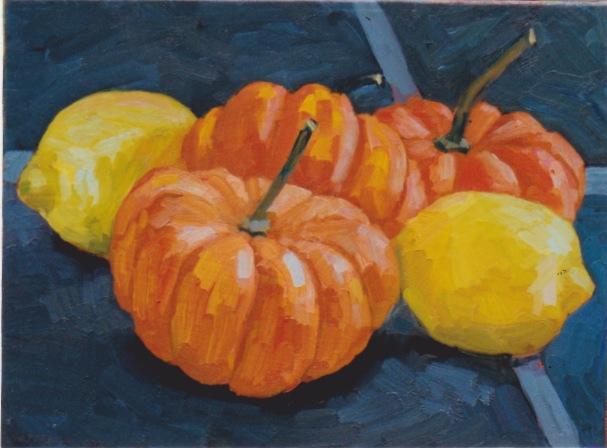 Lemons and Pumpkins by  Melissa Hefferlin - Masterpiece Online