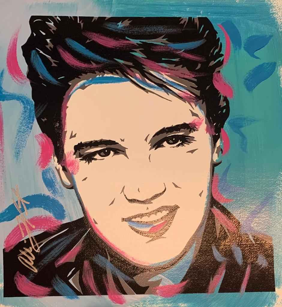 Elvis Presley Sky Blue by   Lefcort, Allison - Masterpiece Online