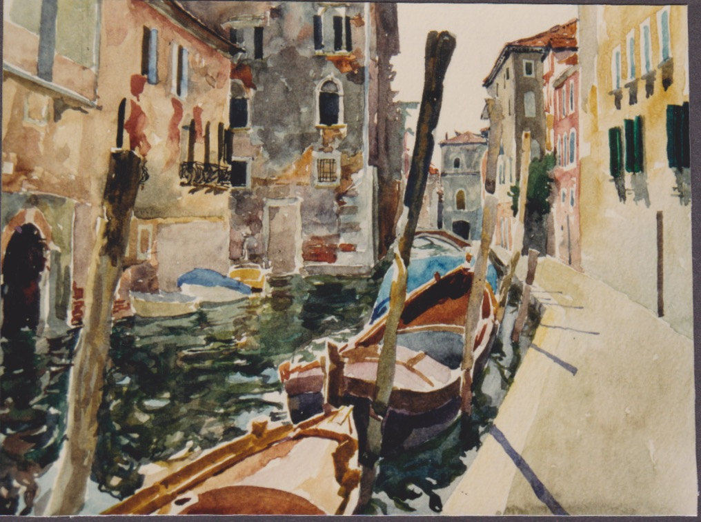A Back Canal in Venice by  Daud Akhriev - Masterpiece Online