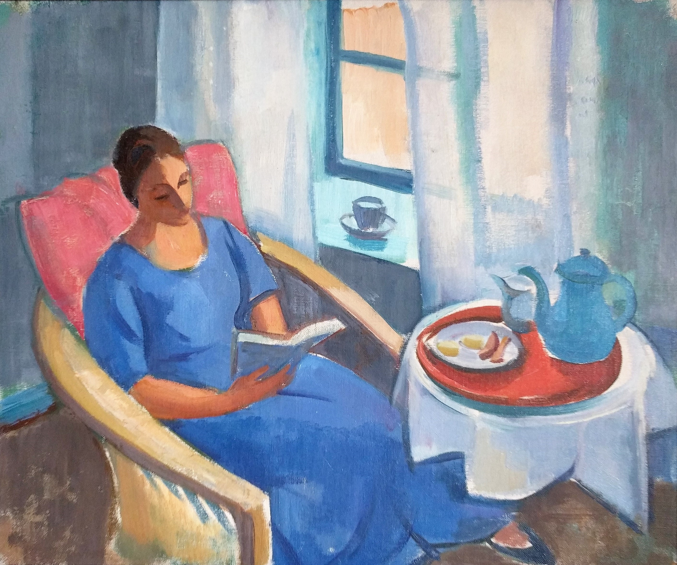 Gerda reading in her ...  by  Johan Johansson