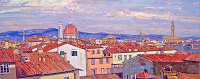 Duomo in the Distance by  Daud Akhriev - Masterpiece Online