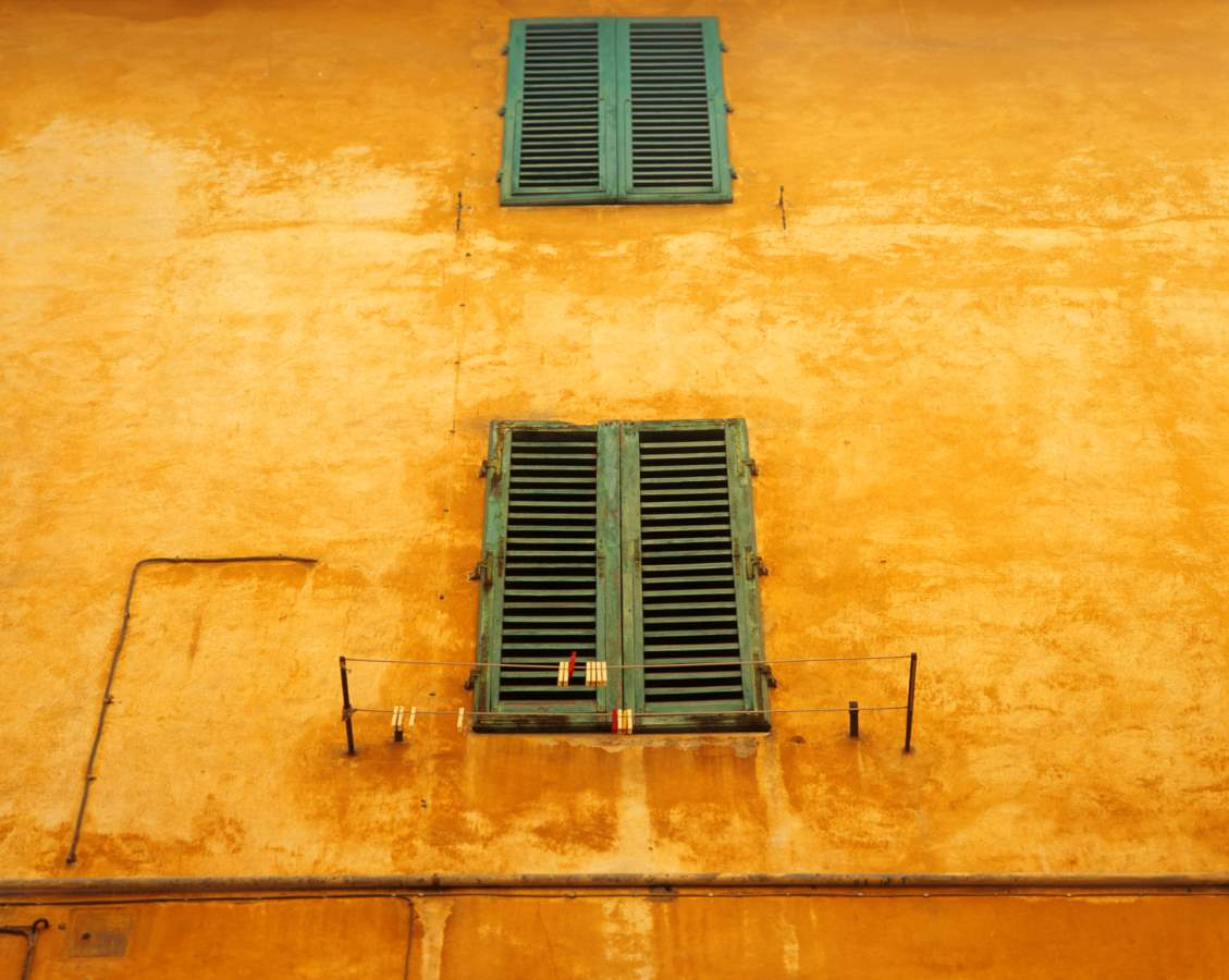 Yellow Ochre Wall, Tuscany 1999 by Alison Shaw - The Granary Gallery
