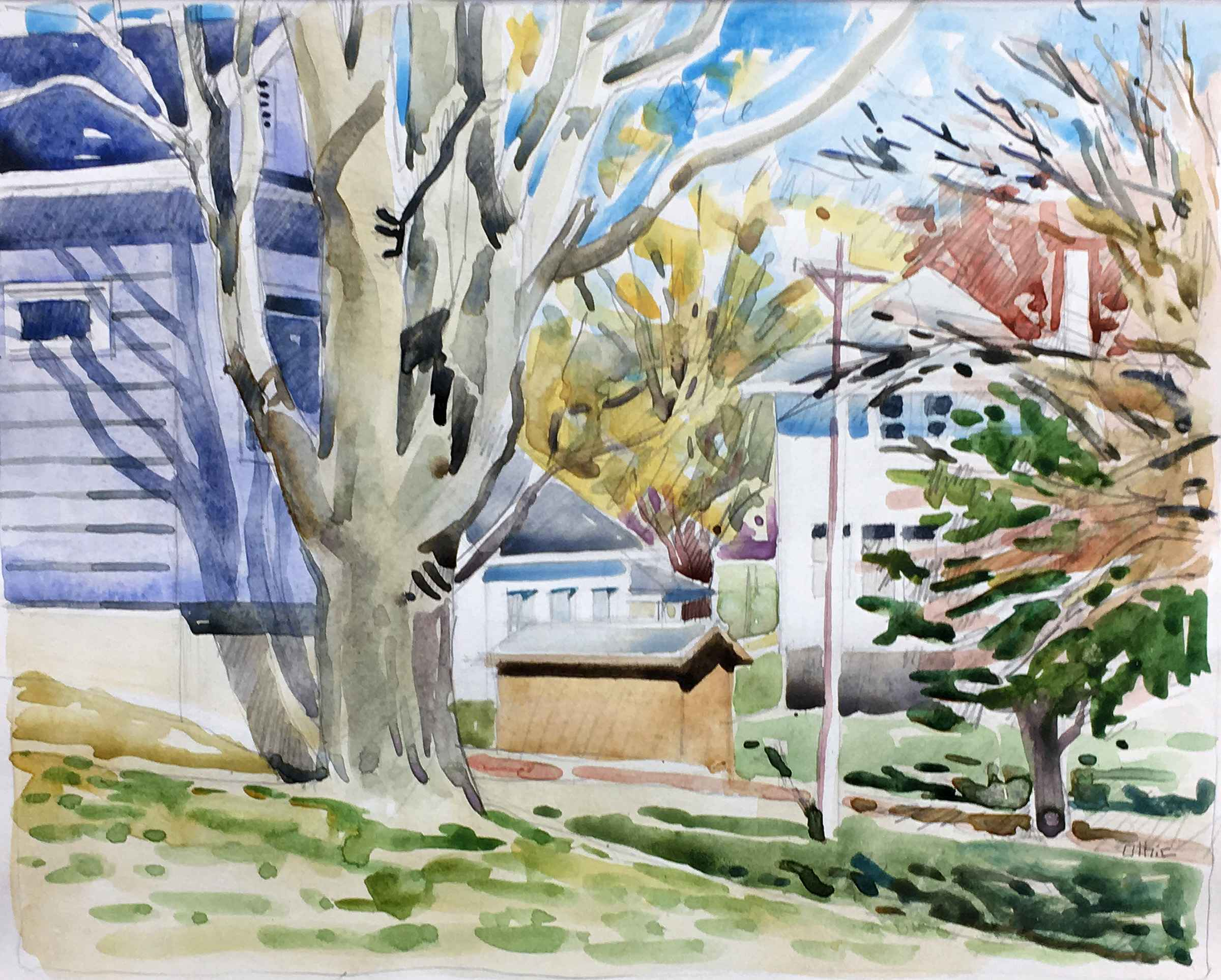 Houses, Branches, Lea...  by  Nora Othic