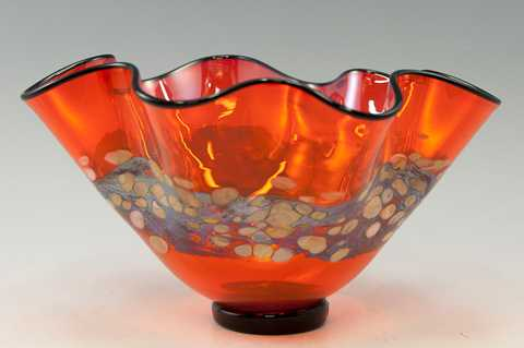 Bowl/Small Fluted Ora... by  Nicholas Nourot - Masterpiece Online