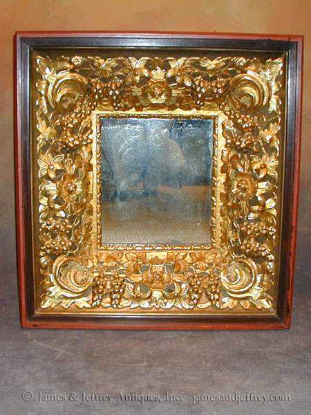 Carved Giltwood Mirror by  Russian  - Masterpiece Online