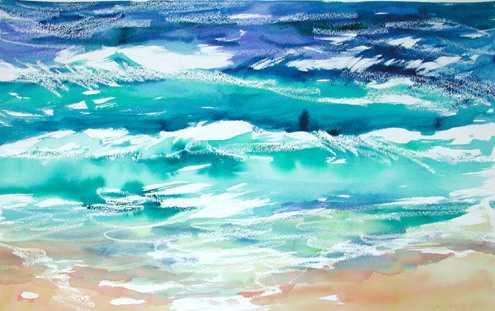 Blue Seas 1 by  Nancy Poes - Masterpiece Online