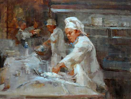 Line Cooks by Ms Peggy Kingsbury - Masterpiece Online