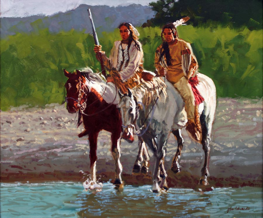 Two Lakota by  Glen Edwards - Masterpiece Online