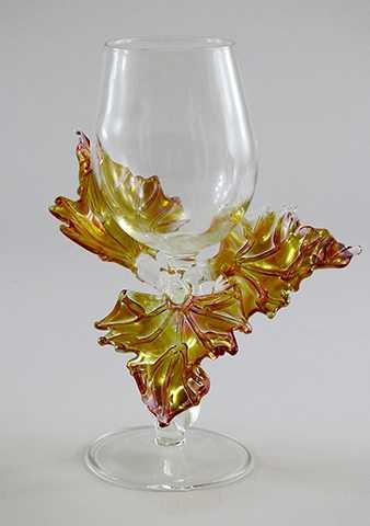 Goblet/Gold Fume Leaf by  Jacqueline Mc Kinny - Masterpiece Online