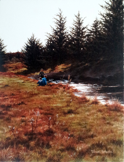 Playing at the Creek by   Teresa  Wheeler - Masterpiece Online