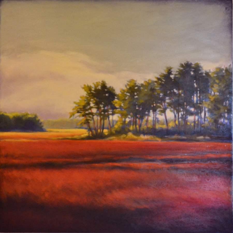 Autumn Marsh in Red by  Margaret Gerding - Masterpiece Online
