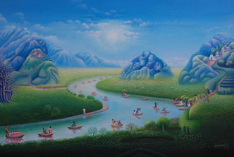 A river runs through ...  by  Mario MONTILUS