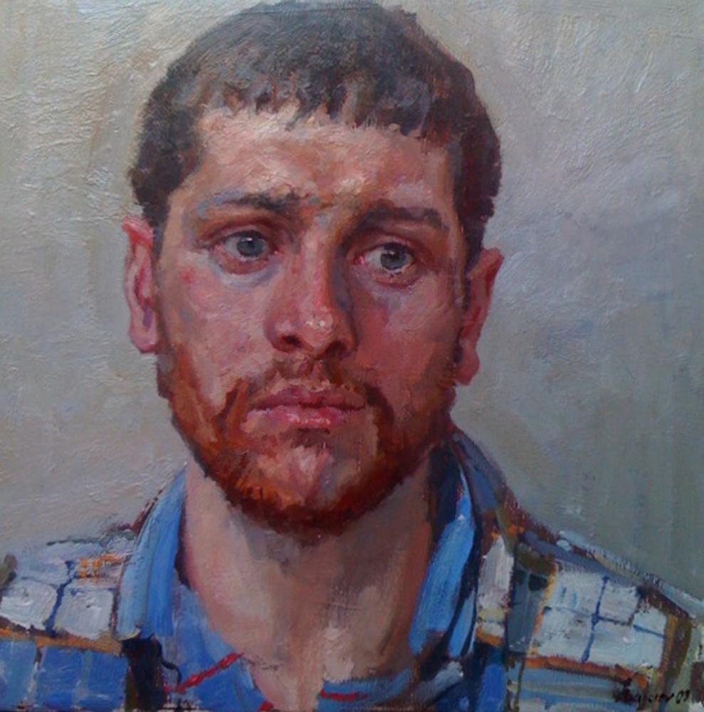 Portrait of the Artis... by  Daud Akhriev - Masterpiece Online