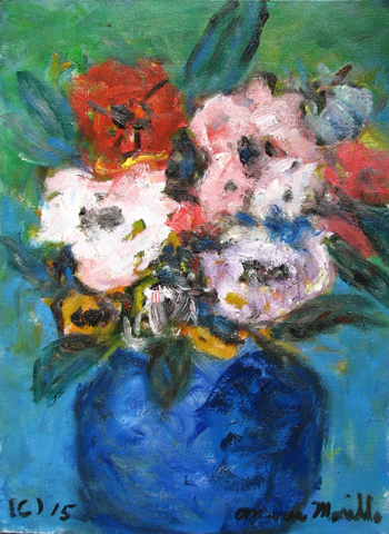 Vase of Flowers  by  Andres  Morillo
