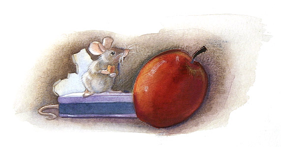 Mouse And Apple by  Julie Downing - Masterpiece Online