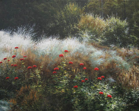 Zinnias End of the Se... by  Michael Wheeler - Masterpiece Online