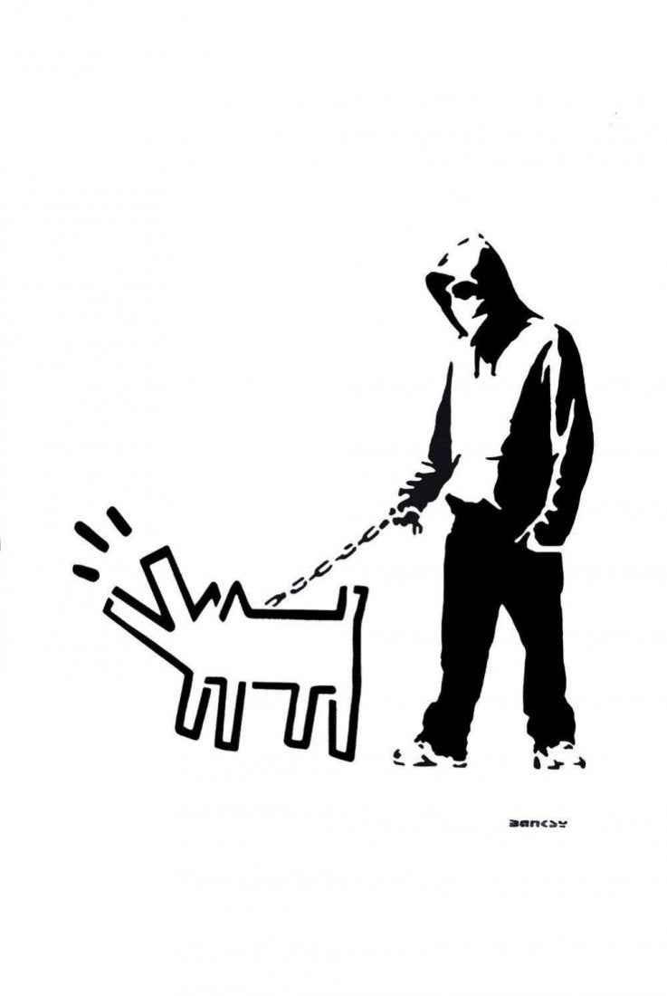 Hoodie & Haring Dog (... by   Banksy - Masterpiece Online