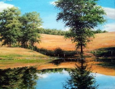 Clear Still Pond by  Michael Wheeler - Masterpiece Online