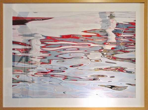 Red and Grey Boat by  Fabienne Blanc - Masterpiece Online