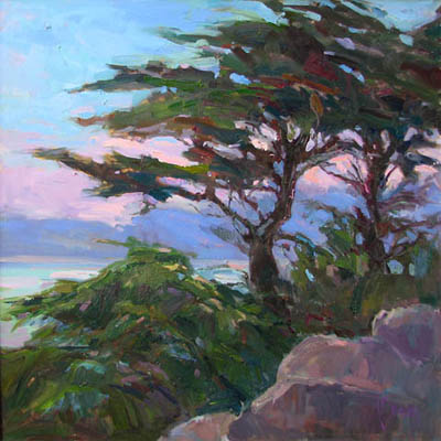 Evening Cypress by  Lindy  Duncan - Masterpiece Online