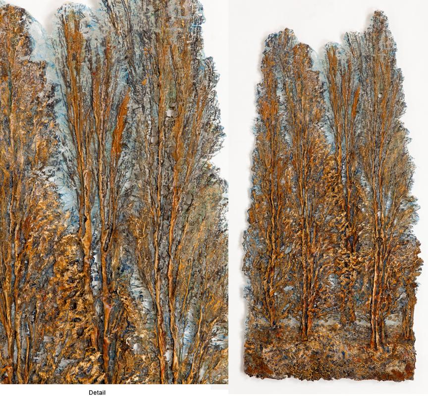 FOUR POPLARS 2 by  Lesley Richmond - Masterpiece Online