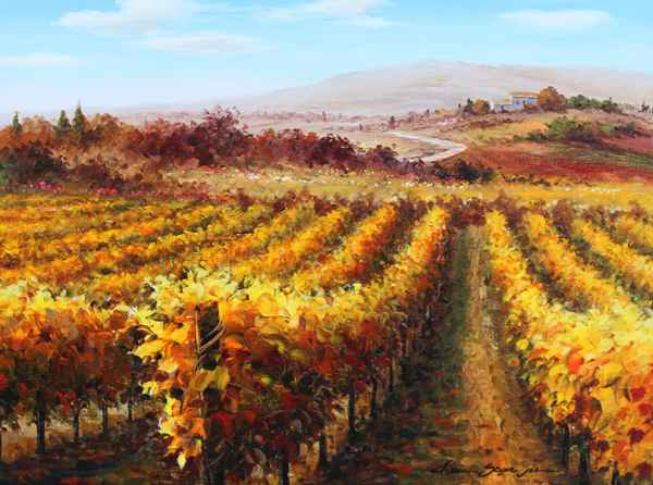 Vineyard Yellow by  Soon Ju Choi  - Masterpiece Online