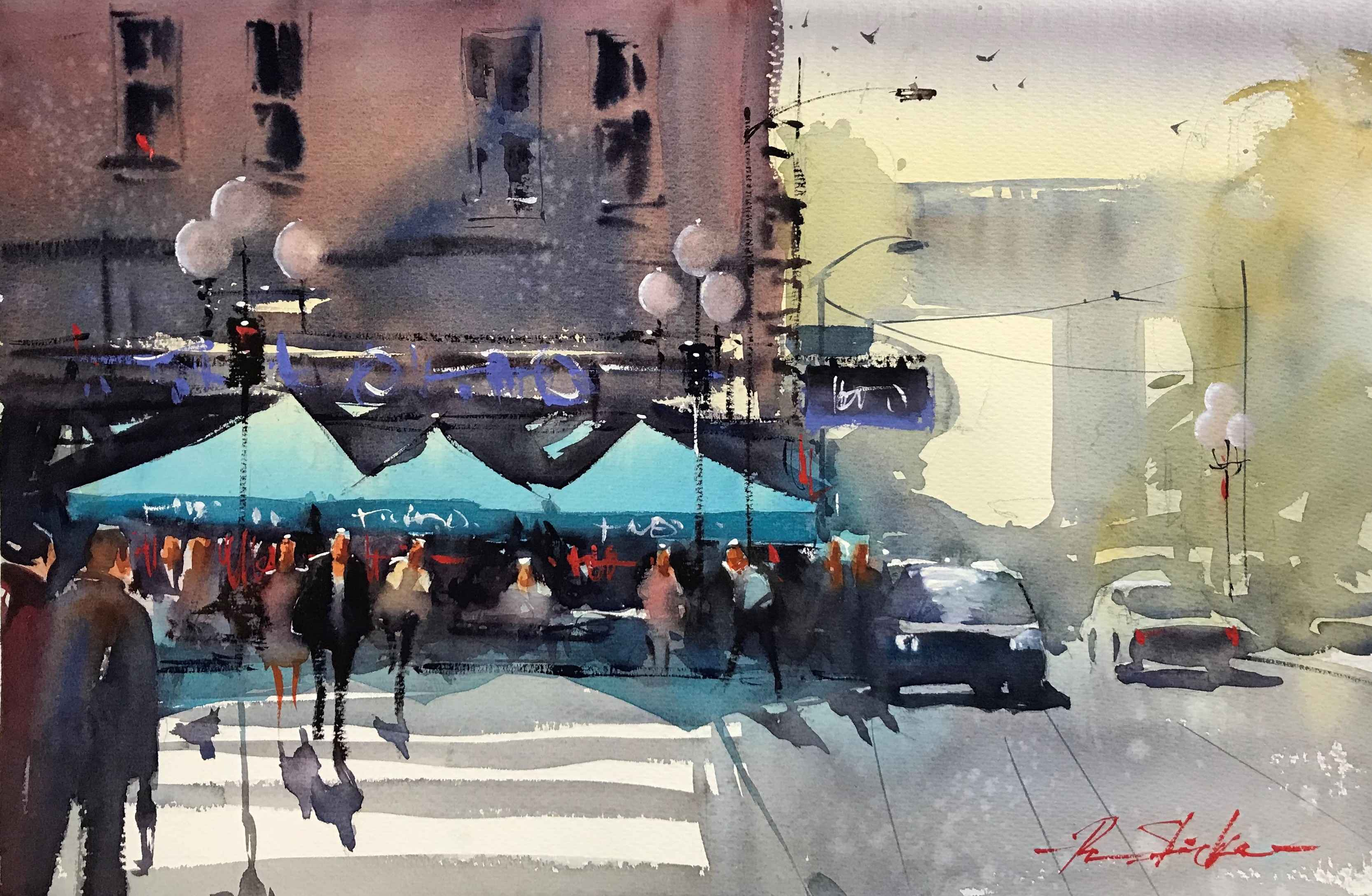 Pioneer Square Cafe by  Ron Stocke - Masterpiece Online