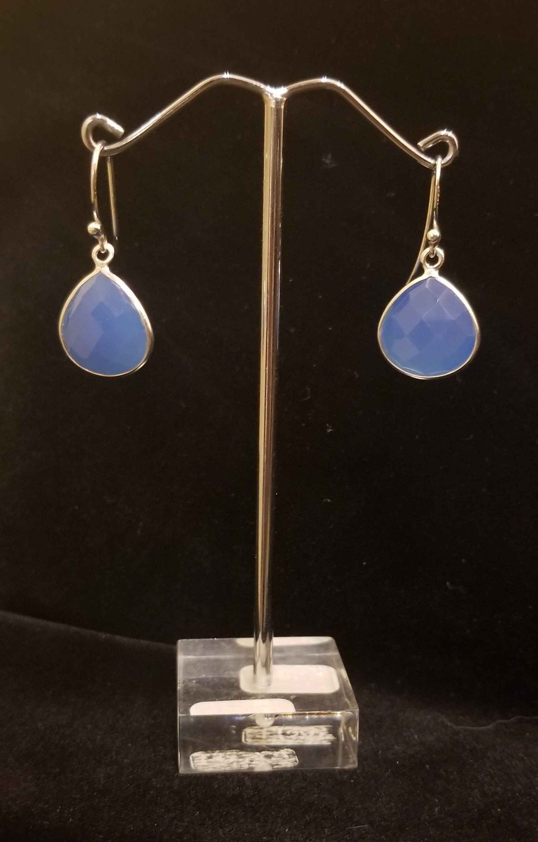 Earrings - Blue Agate... by  Gallery Pieces - Masterpiece Online