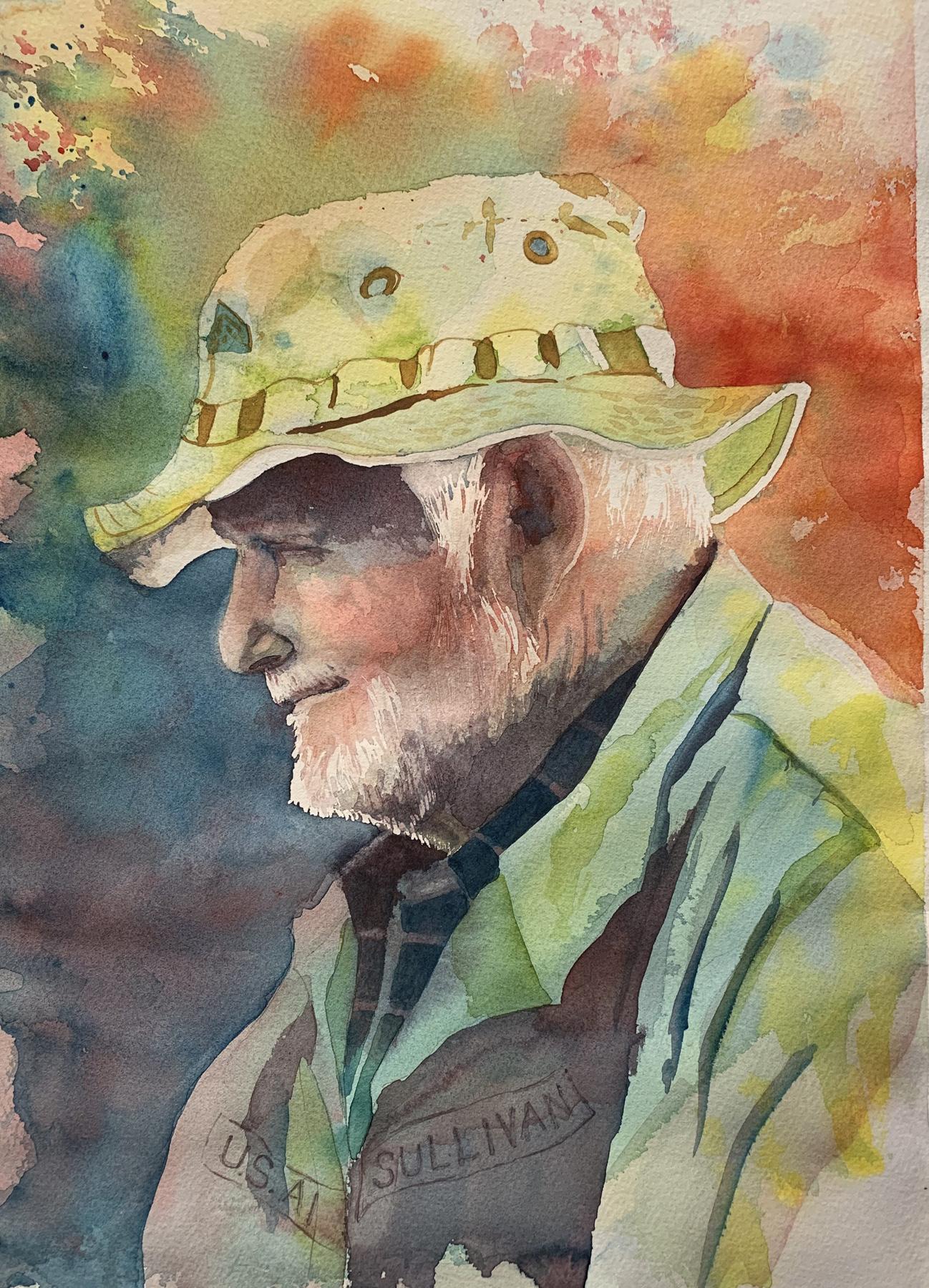 Man in the Beatty Sal... by  Kay Sullivan - Masterpiece Online