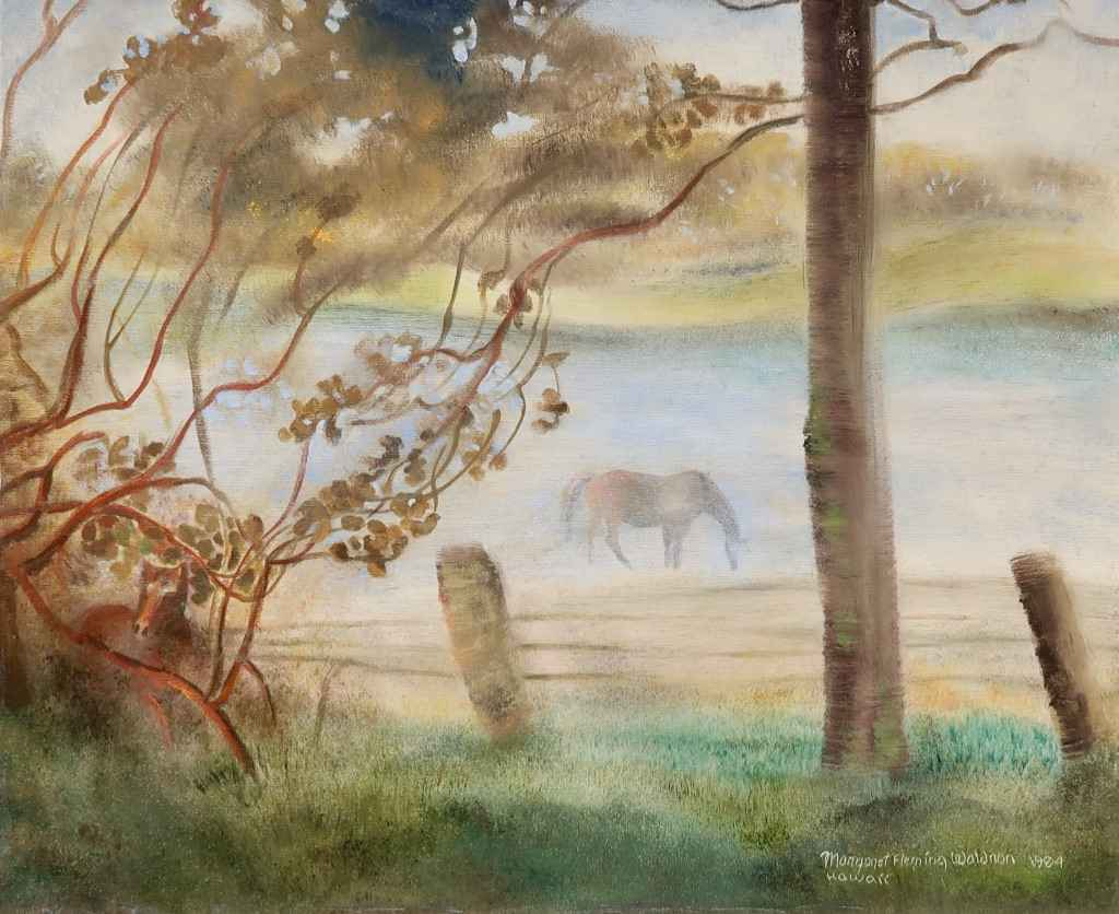 Horse in the Mist, Ka... by  Margaret Fleming Waldron (1910-1992) - Masterpiece Online