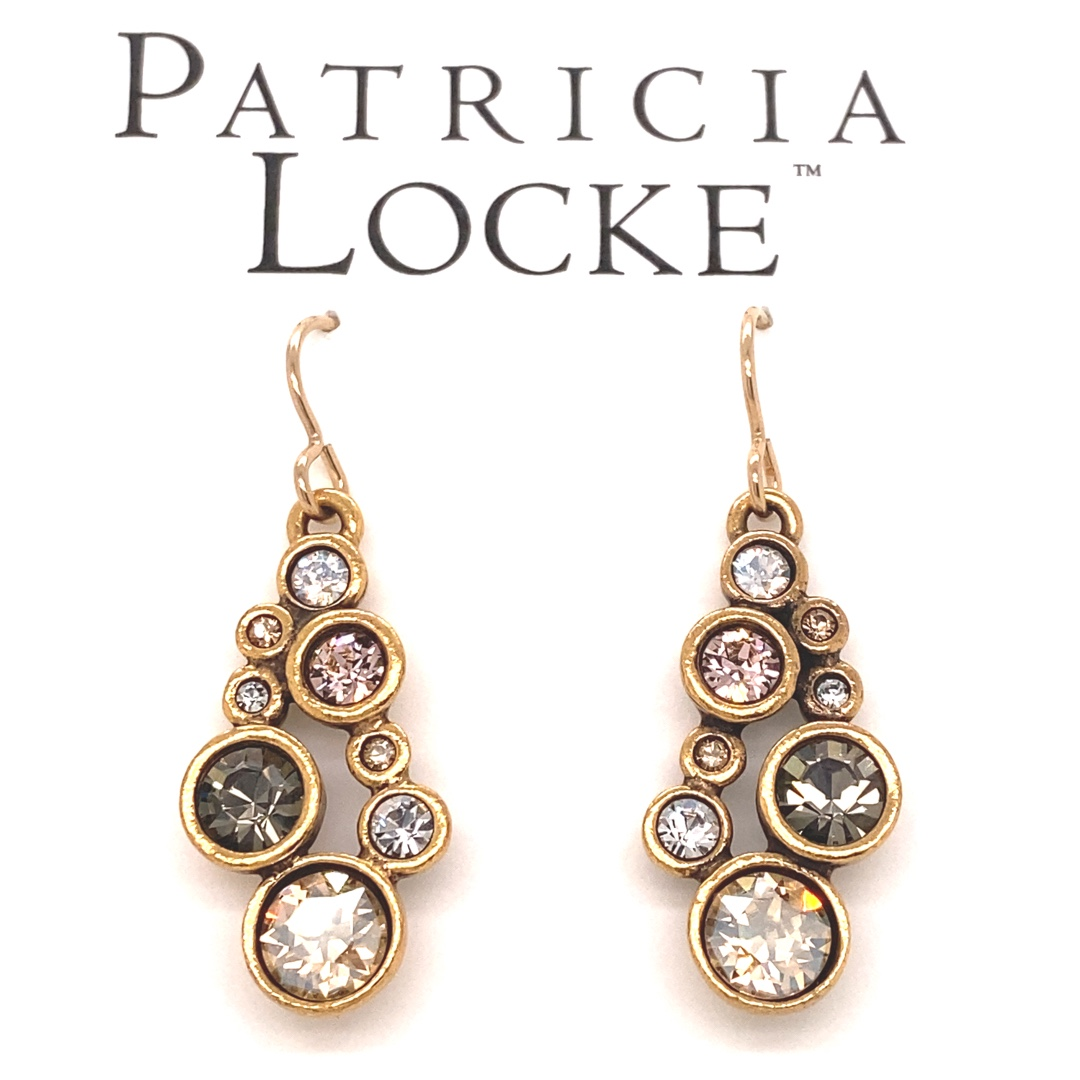 Shimmer Earring in Gold, Champagne