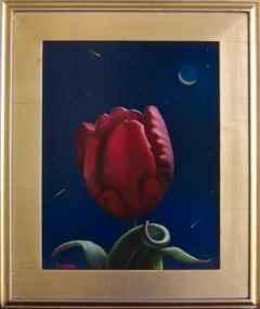 Moonlit Red Tulip