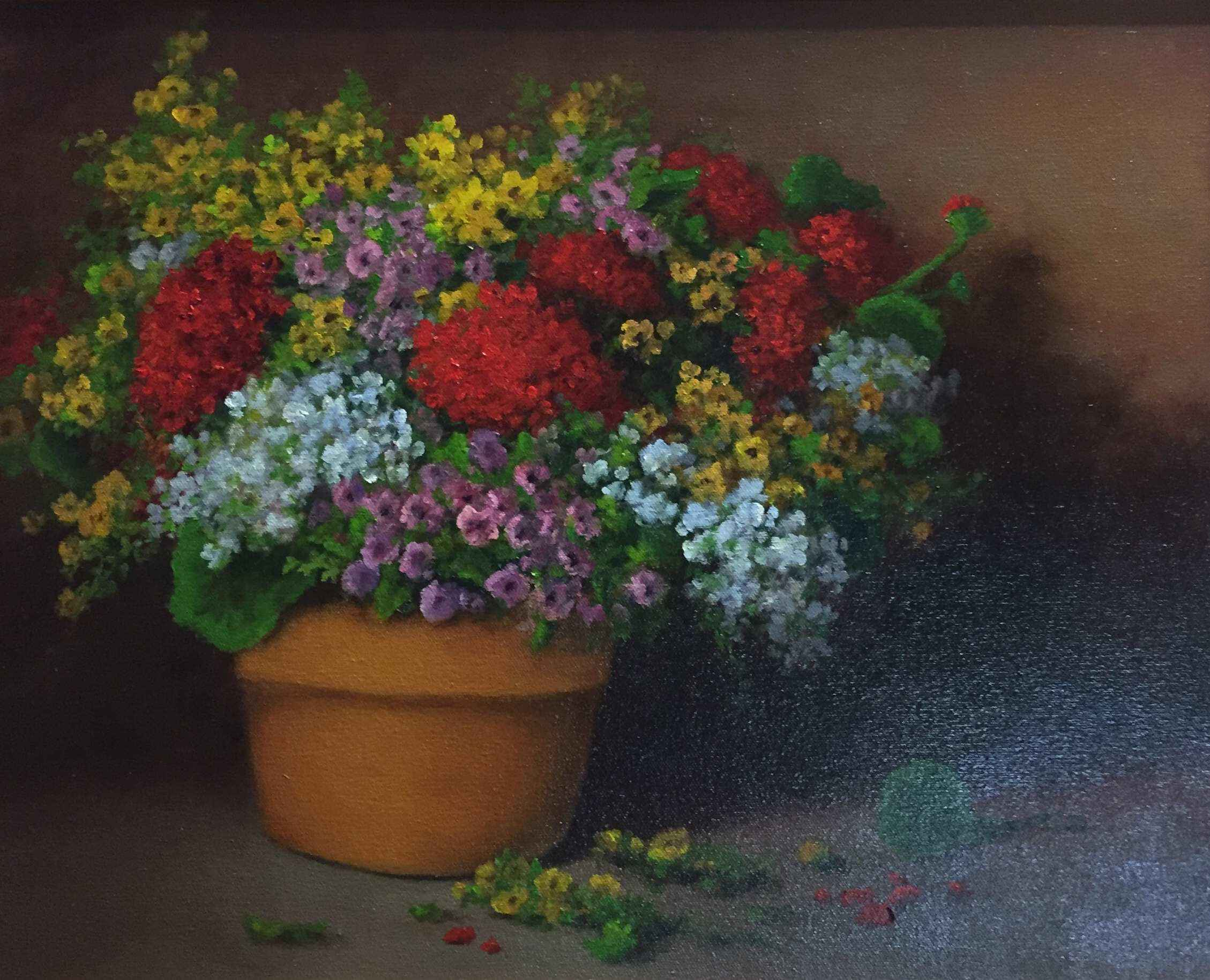 Potted Flowers by Mrs Milbie Benge - Masterpiece Online