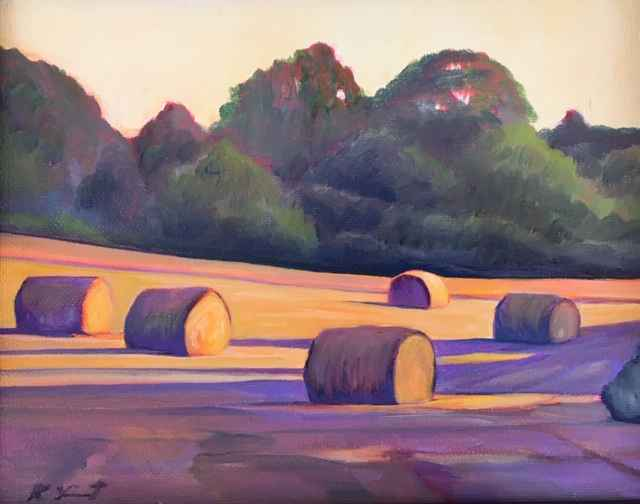 West Tisbury Hay Bales by  Kenneth Vincent - Masterpiece Online