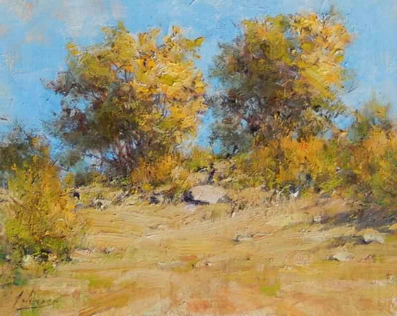 Autumn Cottonwoods by  Robert A. Johnson, OPAM - Masterpiece Online