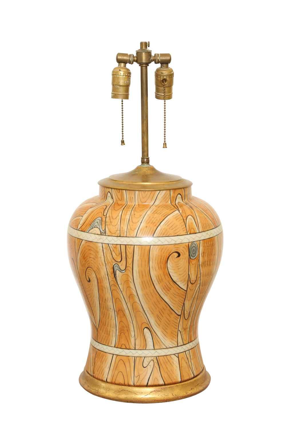 Faux Bois Vase Lamp by  Italian  - Masterpiece Online