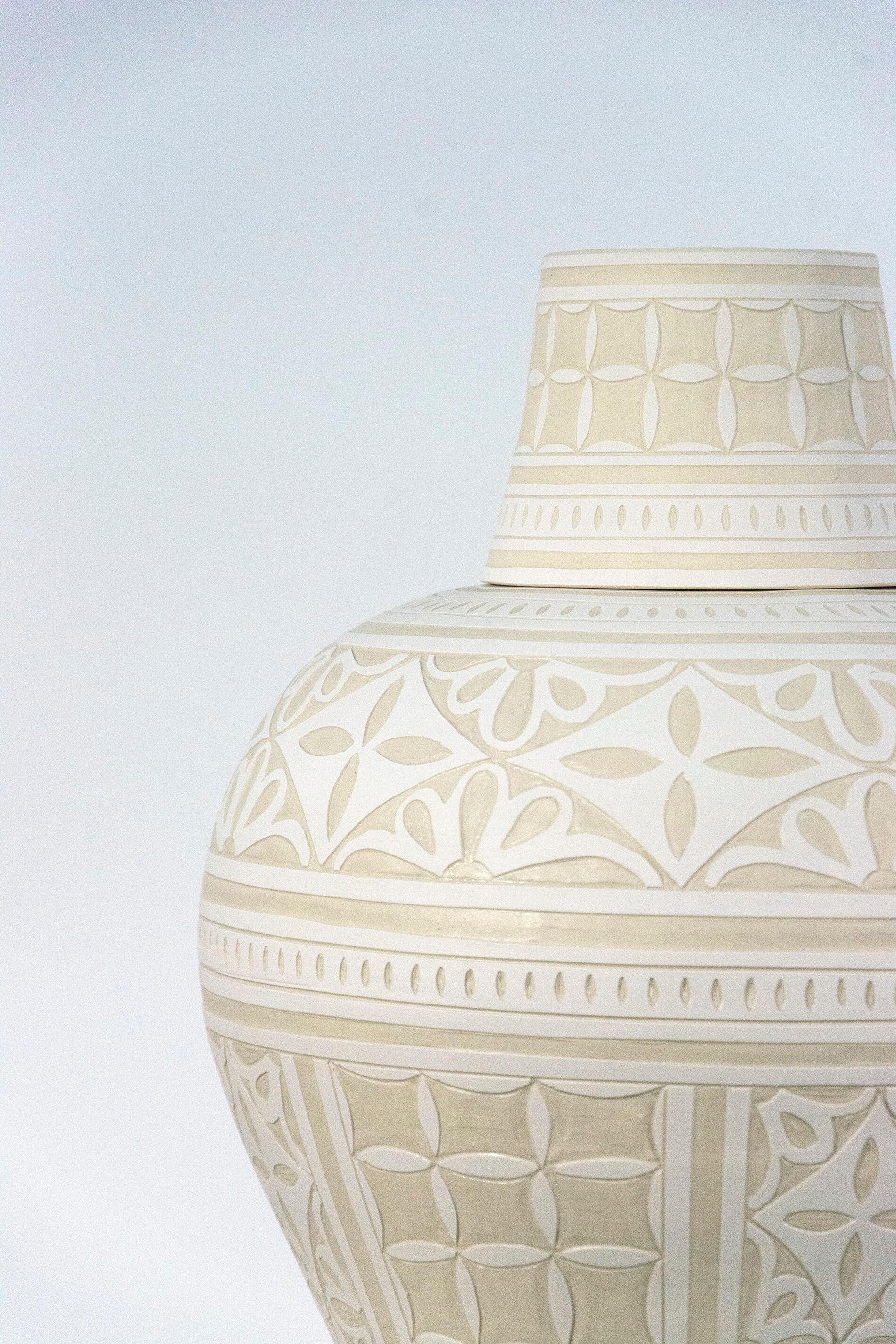 Engraved Ginger Jar, ... by  Loren Kaplan - Masterpiece Online