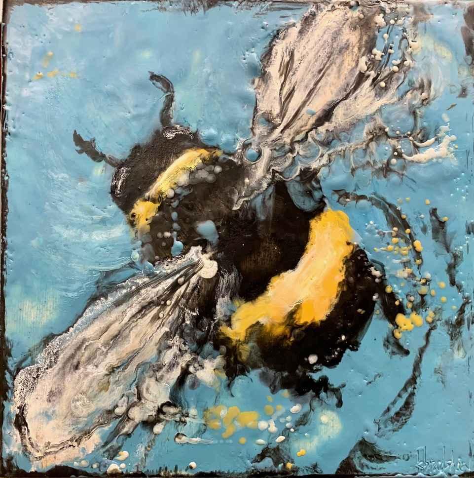 Blue Swirl by  Kathy Bradshaw - Masterpiece Online